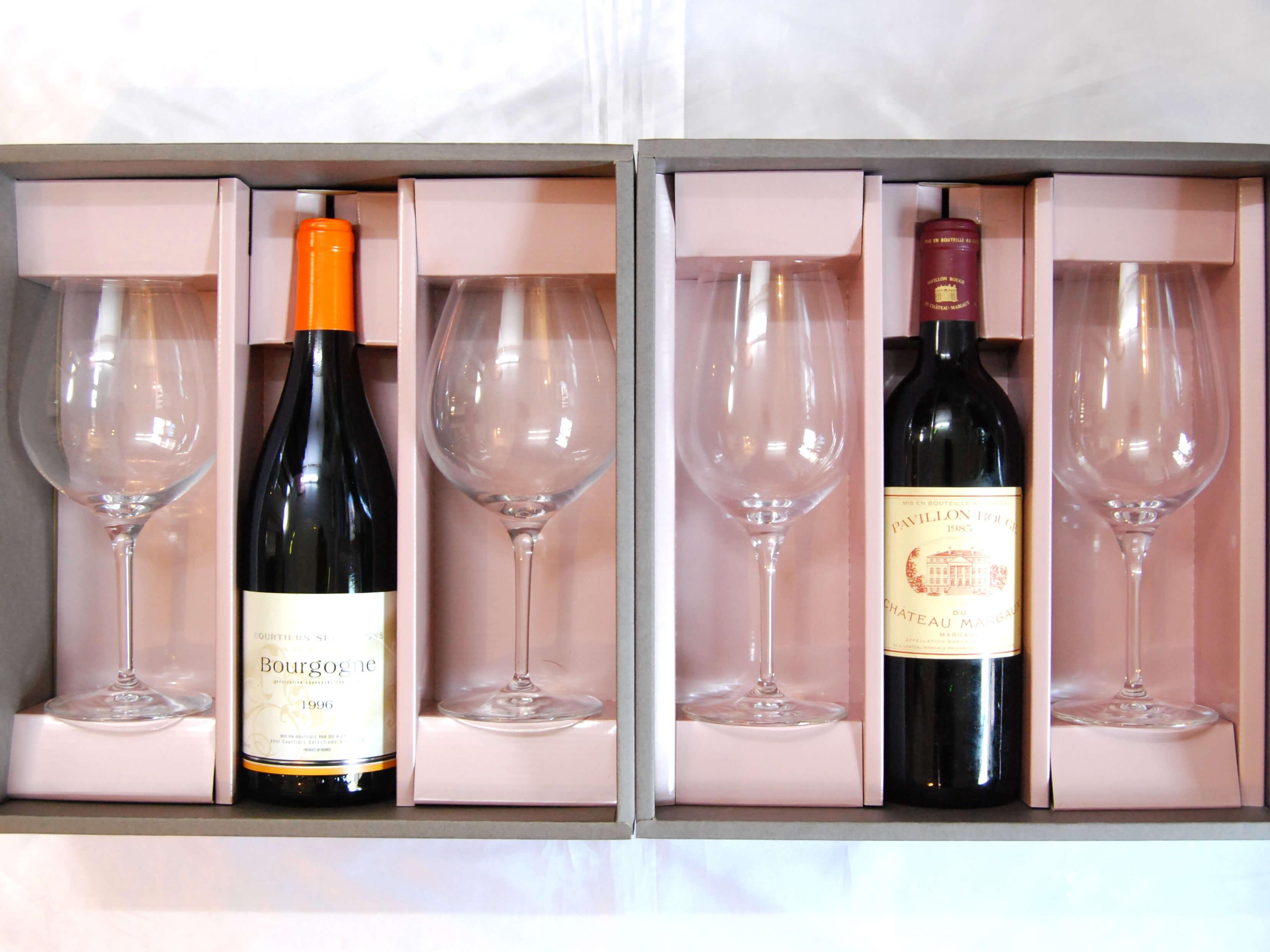 ワインはグラスで味が違います